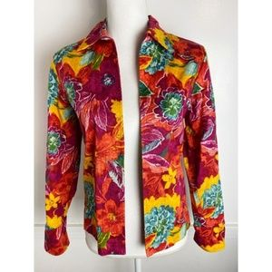 Coldwater Creek • Red Yellow Floral Blazer